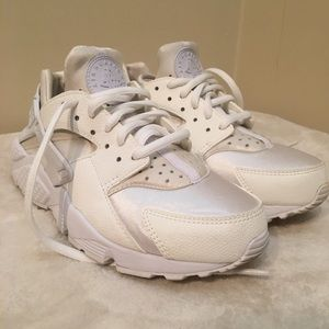Nike Air white and cream huaraches .